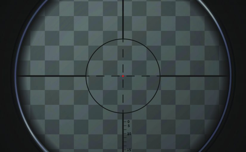 Realistic sniper sight on transparent background