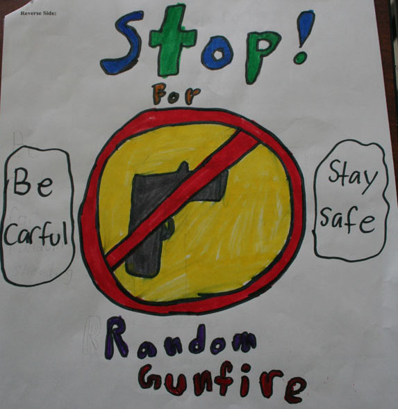 Image courtesy of Sergeant Tommy Thompson, Phoenix, Arizona, Police Department. Poster designed by a fourth-grader in support of Shannon's Law in Arizona (named after Shannon Smith, a fourteen-year-old Phoenix girl who was killed by a stray bullet in 1999). - See more at: http://www.policechiefmagazine.org/tips-to-reduce-celebratory-gunfire-on-new-years-eve/#sthash.afeew7wA.dpuf